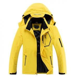 Men's Waterproof Ski Jacket Hooded Raincoat Warm Winter Snow Coat