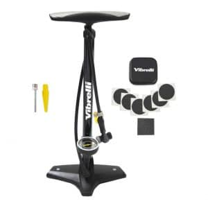 Vibrelli Bike Floor Pump with a Glueless Puncture Kit