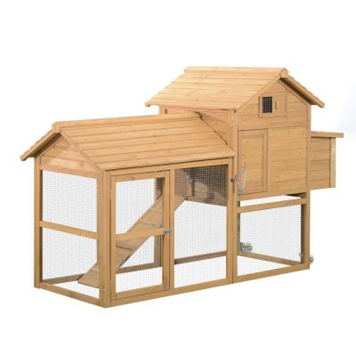 PawHut-Wooden-Portable-Backyard-Chicken